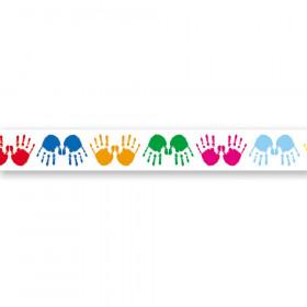 Colorful Handprints Border, 36'