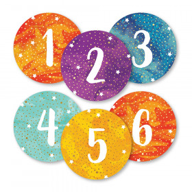 Galaxy Numbers Magnetic Cut-Outs, Pack of 36