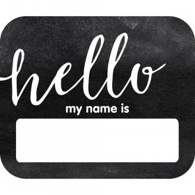 Industrial Chic Hello Name Tags