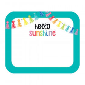 """Hello Sunshine Name Tags, 3"""" x 2.5"""", Pack of 40"""