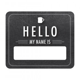Industrial Cafe Chalkboard Hello Name Tags, Pack of 40