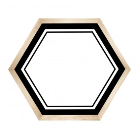 Simply Boho Hexagons Name Tags, Pack of 40