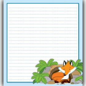 Playful Fox Notepad