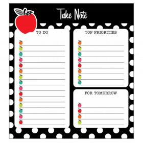 Black White & Stylish Brights Notepad, 50 Sheets