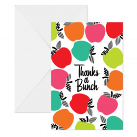 Black, White & Stylish Brights Note Cards with Envelopes, Pack of 10