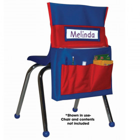 Chairback Buddy Pocket Chart, Blue/Red