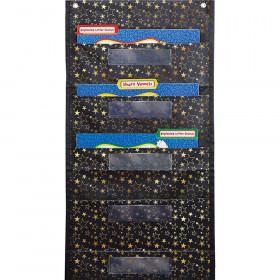 Folder Store Pocket Chart Gold Star File