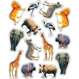 Wild Animals of the Serengeti Shape Stickers