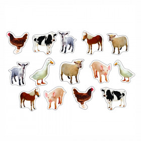 Farm Animals: Photographic Shape Stickers, Pack of 84
