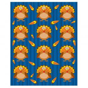 Turkeys Shape Stickers, Pack of 72