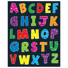 Alphabet Uppercase Letters Shape Stickers, 156 Stickers