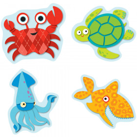 Seaside Splash Shape Stickers