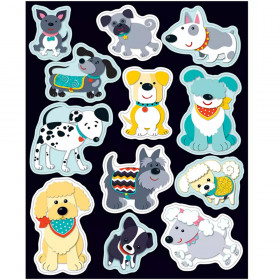 Hot Diggity Dogs Shape Stickers
