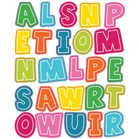 School Pop Alphabet Uppercase Letters Shape Stickers