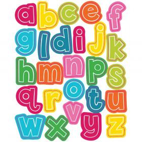 School Pop Alphabet Lowercase Letters Shape Stickers