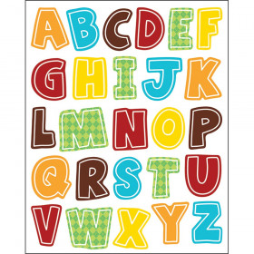 Hipster Alphabet Uppercase Letters Shape Stickers