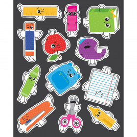 School Tools Shape Stickers
