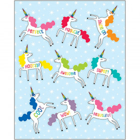 Schoolgirl Style Hello Sunshine Unicorns Shape Stickers