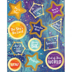 Galaxy Motivators Motivational Stickers, 72 Stickers