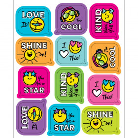Kind Vibes Smiley Faces Shape Stickers, Pack of 72