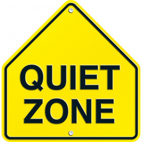 Quiet Zone Two-Sided Decoration
