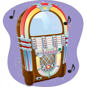 Jukebox Two Sided Decoration
