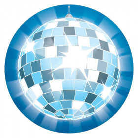 Disco Ball Two Sided Decoration