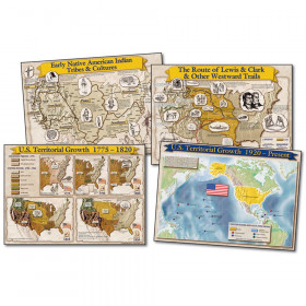 Historical Maps of the United States Bulletin Board Set