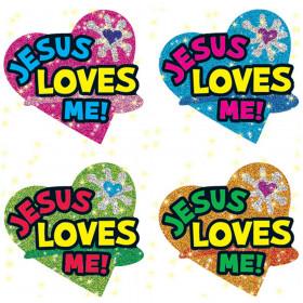 Jesus Loves Me Dazzle Stickers