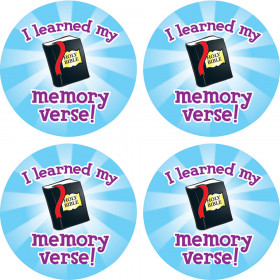 I Learned My Memory Verse Shape Stickers