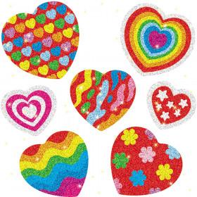 Hearts Dazzle Stickers