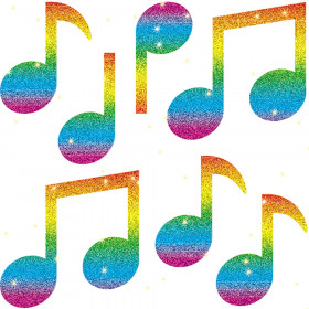 Music Notes Dazzle Stickers