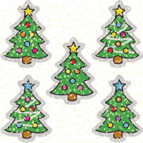 Christmas Trees Dazzle Stickers