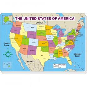 U.S. Map Jumbo Map Pad (Labeled)