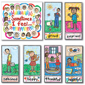 Kid-Drawn Emotions Bulletin Board S