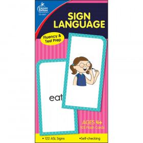 Sign Language Flash Cards, Grade PK-8