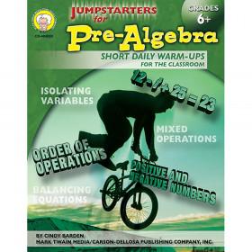 Jumpstarters for Pre-Algebra, Grades 6 - 8