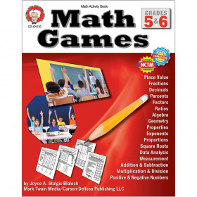 Math Games Activity Book, Grades 5-6