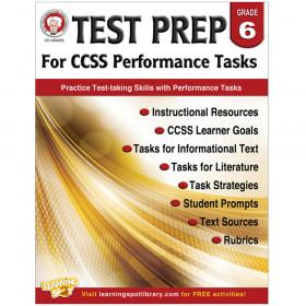 Test Prep for CCSS Performance Tasks, Grade 6