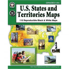 U.S. States and Territories Maps, Grades 5 - 8