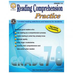 Reading Comprehension Practice Resource Book, Grade 7-8, Paperback