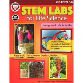 STEM Labs for Life Science Resource Book, Grade 6-8, Paperback