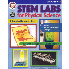STEM Labs for Physical Science Resource Book, Grade 6-8, Paperback
