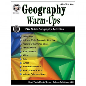 Geography Warm-Ups Resource Book, Grade 5-8, Paperback