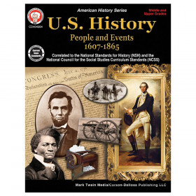 U.S. History: People and Events 1607-1865 Resource Book, Grade 6-12, Paperback