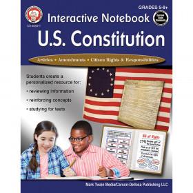 Interactive Notebook: U.S. Constitution, Grades 5-12
