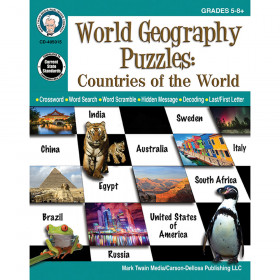 Countries Of The World Puzzle Gr 5-12 World Geography Puzzles