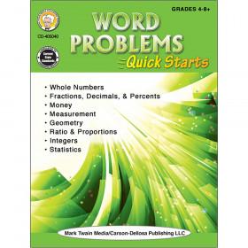 Word Problems Quick Starts Workbook