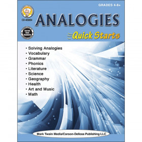 Analogies Quick Starts Workbook, Grade 4-12, Paperback
