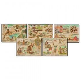 Ancient Civilizations and Cultures Topper Bulletin Board Set, Grade 4-8